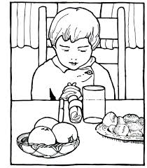 Coloring Pages On Prayer Childrens Praying Page Free