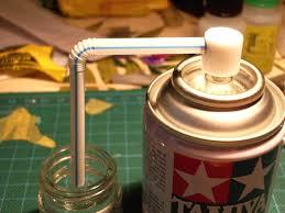 transferer une peinture d une bombe aérosol dans un pot