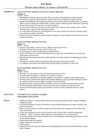 Download Sales Support Senior Analyst Resume Sample As Image File