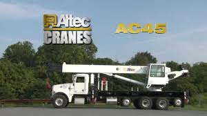 Altec | AC45 Boom Truck Crane - YouTube Mr Boomtruck Inc Machinery Winnipeg Gallery Daewoo 15 Tons Boom Truckcargo Crane Truck Korean Surplus 2006 Nationalsterling 1400h For Sale On National 300c Series Services Adds Nbt55 Boom Truck To Boost Its Fleet Cranes Trucks Dozier Co China 40tons Telescopic Qry40 Rough Sany Stc250 25 Ton Mounted 2015 Manitex 2892 For Spokane Wa 5127 Nbt45 45ton Or Rent Homemade 8 Gtnyzd8 Buy Stock Photo Image Of Structure Technology 75290988
