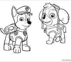 Skye Paw Patrol Coloring Pages Chase Page
