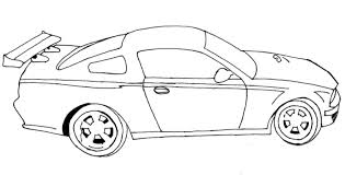 Race Car Coloring Pages Pictures