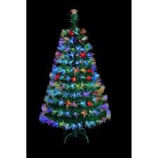 Fibre Optic Christmas Trees Ireland by Multi Coloured Fibre Optic With Flower Sprays 4ft