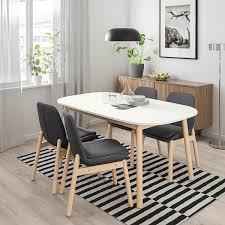 vedbo vedbo tisch und 4 stühle weiß birke ikea österreich