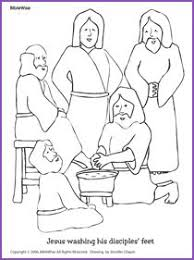 DAY 3 Jesus Washing Disciples Feet Coloring Pages