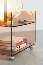 100 Bobois Roche Furniture Michel Dumas Lucite Two Level Trolley
