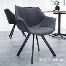 retro stuhl schwarz mit armlehne riess ambiente de wohn