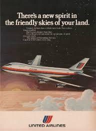 1974 United Airlines Friendly Skies Advert Vintage