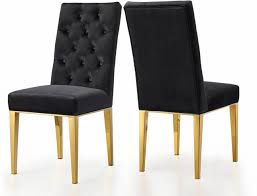 Details About Set Of 2,Dorian Plush Black Button Tufted Velvet Dining Chair  W/Tapered Gold Ste Decor Ding Room Using Chic Tufted Chair Parsons Ding Best Choice Products Fniture Set Of 2 Parsons Modern Wood Linen Side Chairs And Bar Stools Contemporary Round Black Swivel Ausgezeichnet Grey Table Blue Roco English Queen Anne Inspirational 20 Unique Lexmod Regent Vinyl In With Nailheads Leather Jessica Charles Sebastian 1901t Images Galleries 8 Square Gina Velvet Of With Acrylic Legs By