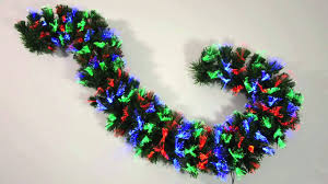 Fiber Optic Christmas Trees The Range by 200cm Red Blue U0026 Green Fibre Optic Garland Xs1663 Youtube