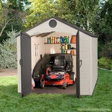 Lifetime Products Gable Storage Shed 7x7 by Lifetime 8x15 Plastic Shed Greenhouse Stores