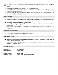 Sales And Marketing Resume 2 Years Experience Page