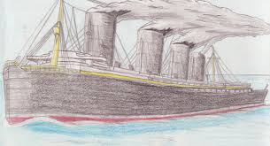Where In Ireland Did The Lusitania Sink by Sinking Of The Lusitania Drawing Lusitania Draw Sinking