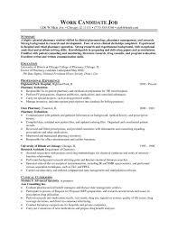 Best Of Retail Pharmacist Resume