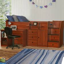 Twin Captains Bed With 6 Drawers by Berg Furniture Sierra Captain U0027s Twin Bed With Pull Out Desk