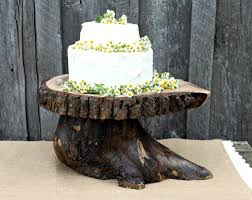 Items Similar To Tree Slice Wedding Cake Stand Great Craftsmanship Rustic Natural Wood Live Edge On Etsy
