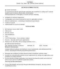 Network Administrator Resume 3 Objective Examples