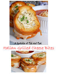 Italian Grilled Cheese Bites Have Mozzarella Fontina And Parmesan Cheeses The Best Partyou Dip Them I Know Youre Sold Right Party Food Lunch