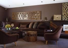 latter wandgestaltung wohnzimmer braun