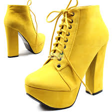 modesta tomo 01 yellow suede thick stiletto laced up ankle bootie