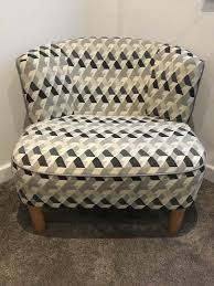 Patterned Grey Living Room Chair.   In Horsham, West Sussex   Gumtree Decorative Chairs For Bedroom Cuddler Swivel Sofa Chair Home Decor Blue Upholstered Ding Uk Duck Egg Fabric Patterned Mcer41 Doan Diamond Grid Velvet Armchair Whosale Accent Chair Living Room Fniture Living Room Floral Pattern Most Comfortable Shop Modern Bluestone Tone Geometric Accent Club Affordable Amazing Fniture With 50 Beautiful Rooms With Ottoman Coffee Tables 12 Rug Ideas That Will Change Everything Ashley Homestore Canada Plant Pouf Spacious Gold Interior Black