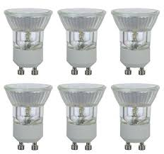 pack of 6 q35mr11 fth fl gu10 cg 35 watt mr11 with uv glass cover