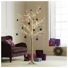 Pre Lit White Twig 6ft Christmas Tree Tesco
