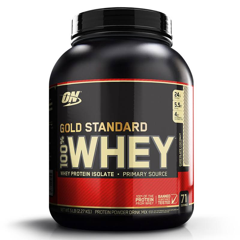 Optimum Nutrition Whey Gold Standard Sports Supplement - Chocolate Coconut, 5lb