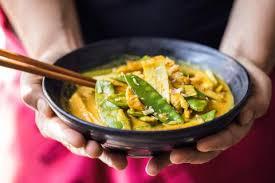 cuisiner pois mange tout curry de dinde aux pois mange tout recette fooby ch