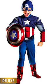 Boys Captain America Classic Muscle Costume