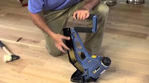 Flooring Nailer Vs Stapler by Primatech P250 Pneumatic Floor Nailer City Floor Supply Youtube