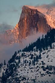Winter Sunset On Half Dome Yosemite CA