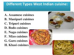 different types of cuisines in the presentation on indian cuisine