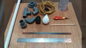 DIY PIPE TABLE LAMP Lampu Meja Pipa Pvc