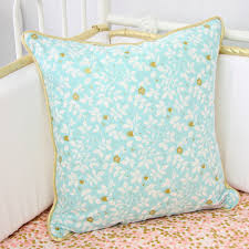 Aqua And Coral Crib Bedding by Caden Lane Coral And Gold Sparkle Baby Bedding Petite Enchantments