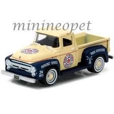 100 Gasoline Truck Greenlight 41010 A 1956 Ford F100 Red Crown Gasoline Pick Up Truck 1