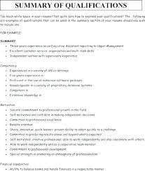 Resume Examples For Cashier At Fast Food Good Summary Of Qualifications Writing A