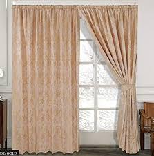 vorhang ornament barock gold gardinen mit kräuselband 2 vorhänge 167x183cm bxh gardine für wohnzimmer schlafzimmer 2er set