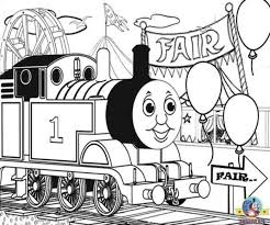 Free Online Printable Pictures Of Thomas Coloring For Kids With Title