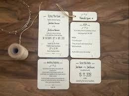 SAMPLE Rustic Wedding Invitation Set