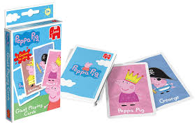 Peppa Pig With Stars Pumpkin Stencil by Peppa Pig Giant Playing Cards Amazon Co Uk Toys U0026 Games