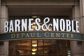 A sign for Barnes & Noble hangs above a store on April 30 2012 in