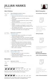 Collection Of Solutions Journalism Internship Resume Sample Cool Samples Visualcv Database