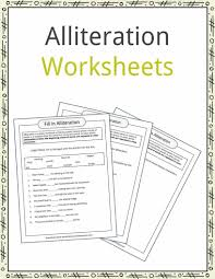 Halloween Acrostic Poem Worksheet alliteration examples definition u0026 worksheets kidskonnect