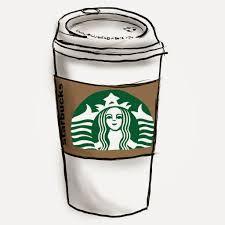 Starbucks Coffee Cup Cartoon Clipart