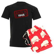 stamped made in 1965 men u0027s dark pajamas whee design