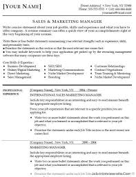 Marketing Resume Format Template Easy