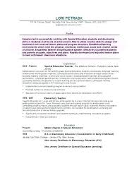 Professional Profile Resume Examples Teacher Feat