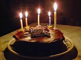 Beautiful Chocolate Birthday Cake With Candles