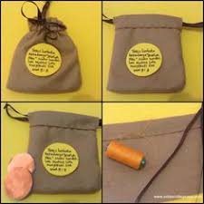 Moneys Sack Craft Idea Made From Flanel Jesus Calling Matthew The Tax